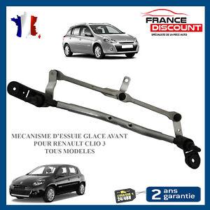 Renault Clio lll 3 ESSUIE-GLACE AVANT MOTEUR TRINGLERIE MÉCANISME 8200383752