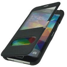 Flip Cover Tasche Samsung Galaxy S5 G900 Schutz Hülle Case Schwarz