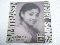 SUMITRA SEN  TAGORE SONG  BENGALI  rare EP RECORD 45 vinyl INDIA 1969 EX