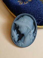 loose agate blue cameo