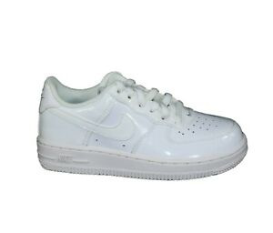 Nike Air Force 1 PS 314193 168 Little Kids Shoes White Leather Sneakers SZ 12 C