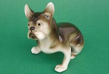Royal Dux Tschechien,Porzellan,Hundefigur,Französische Bulldogge,1960,TOP++++