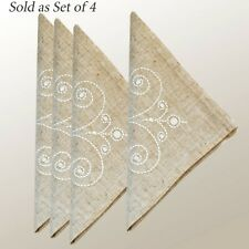 """Lenox French Perle Set of 4 Napkins With Embroidery 19"""" x 19"""""""