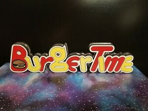 BURGERTIME sign great for game rooms (Atari show it off  , Colecovision, NES,  )