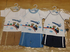 Boys' 100% Cotton Embroidered Outfits & Sets (0-24 Months)