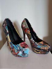 Avengers customised decoupage Ladies shoes Size 40 6 1/2