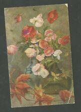 German World War 1 Feldpostkarte 1918 Used Postcard Serie 211 Flowers in Vase