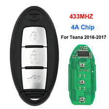 3 Button Keyless Entry Remote Car Key 433MHz 4A Chip for Nissan Teana 2016-2017
