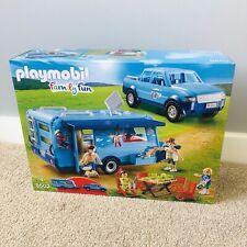 NEW PLAYMOBIL 9502 FunPark Pickup Truck w/Caravan/Camper Set Car Camping Holiday