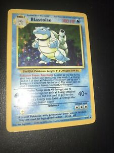 Blastoise 2/102 Base Set Rare HOLO Pokemon Card LP