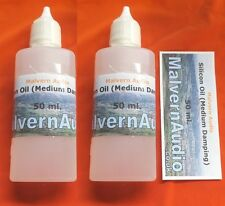 2 x 50 ml. Bottles Silicone Well Damping Fluid/Oil - Michell/SME/Transcriptors