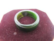 new natural Dark green onyx jade hand carved band ring size 10# free shipping