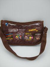 Recycled M&M Handbag Purse Adjustable Canvas Strap