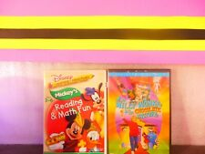 Lot of  2  Disney's Learning Adven. Mickey's /Willy Wonka & the Choc. (( DVD ,