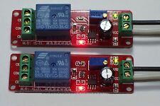 2PCS , 12 VDC ADJUSTABLE , ON DELAY TIME , 0 TO 10 SECONDS , 10 AMP RELAY BOARD