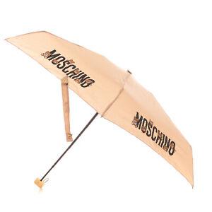MOSCHINO Mini Telescopic Foldable Umbrella Manual Open & Close Logo Printed