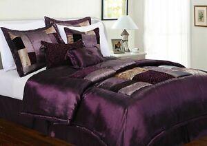 Milan Eggplant Comforter Bedding Set