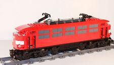 Custom BR103 rot Lok aus LEGO® Eisenbahn Zug IC Inter City Schnellzug Neu