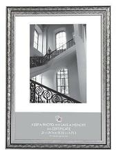 Silver & Black Art Nouveau Photo Picture Frame A4 Certificate Gift - SLGH