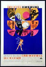 BARBARELLA JANE FONDA SCIENCE FICTION 1968 RARE STYLE 1-SHEET