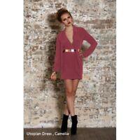PASDUCHAS - Utopian Dress (PD100036 - Dusty Pink size 8)