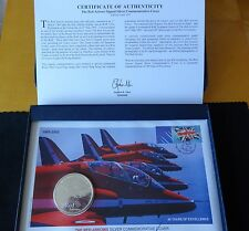 2005 SILVER PROOF 2OZ BRITANNIA COIN SIGNED PNC + COA 40th RED ARROWS ANNI 1/450