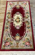 CHINESE Bedside or Hearth CARPET RUG HAND MADE Oriental 158x76 CM