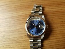 BULOVA Super Seville Day Date Automatic Watch Blue Dial 36mm