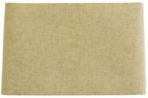 NEW allen + roth 10-in x 16-in Tan Linen Fabric Rectangle Modern Lamp Shade