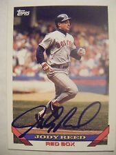 JODY REED signed RED SOX 1993 Topps baseball card AUTO Autographed #103 Brewers