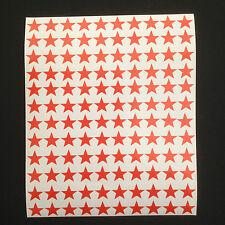 350 x Red Star Shape Peel and Stick Self Adhesive Vinyl Stickers 15 mm