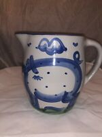 M.A. Hadley Pottery LARGE Stoneware Pitcher Pig 'The End' At Bottom Louisville