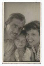 BM967 Carte Photo vintage card RPPC Couple enfant Fun Funny amusant