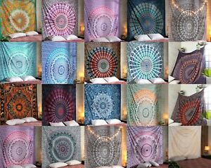 Indian Mandala Tapestry Wall Hanging Hippie Queen Bedding Bedspread Throw