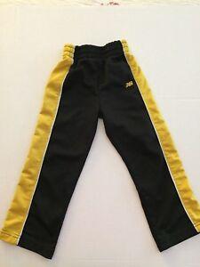 Boy's New Balance Warm Up Pants Black With Yellow Stripe Size 3T