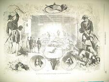 COMPIEGNE CHENIL VENERIE IMPERIALE INCENDIE PALAIS DU LUXEMBOURG GRAVURES 1859