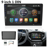 """9""""1DIN Car Stereo MP5 Multimedia Player HD Radio Indash FM Touchable Mirror Link"""