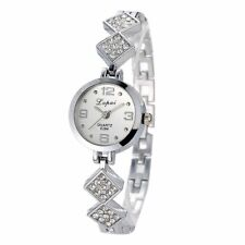 Ladies Stainless Steel Silver Rose Gold Crystal Bracelet Watch Women's Gift