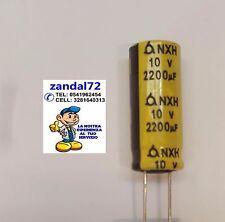 CONDENSATORE  ELETTROLITICO VERTICALE 2200uF 10V 10VOLT 105° 10x25 PASSO 5mm