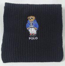Polo Ralph Lauren Collectable Black Teddy Bear Scarf NWT