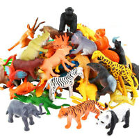 53pcs Animal Toy Set Baby Action Figure Mini Jungle Dinosaur Zoo Model Kids Gift