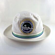 Vintage 70s PGA Golf Hat White Women Championship Golf 59th Pebble Beach 1977