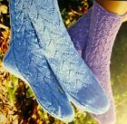 BEAUTIFUL LACE LUPINE SOCKS to KNIT in FINGERING WEIGHT YARN by FIBER TRENDS