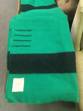 Vintage Kelly Green Hudson's Bay Wool Blanket. 4 Points in Nice Condition