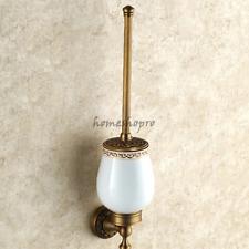 Bathroom Art Carved Toilet Brushes Set Wall Mounted Brass Toilet Brush Holder