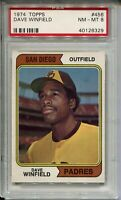 1974 '74 Topps Baseball #456 Dave Winfield Rookie Card RC Graded PSA Nm Mint 8
