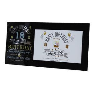 Vintage Signography Range Birthday Photo Frame - 18th Birthday