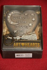 Art Hearts by Demdaco - LOVE YOU TO THE MOON AND BACK - Heart With Key NEW / Box