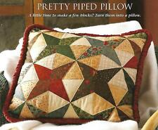 Pretty Piped Pillow quilting pattern instructions