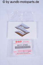 """GSXR DL GSX F GSR RV SV GSF Emblem """"S"""" 3D Verkleidung Tank Fairing orig. Suzuki"""